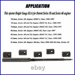 Injector Height Gauge Kit + Injector Nozzle Remover for Detroit Diesel 60 Series