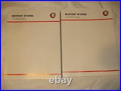 NEW Detroit Diesel V-92 Series 92 Engines PARTS CATALOG Book Service Shop Manual